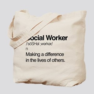 Social Worker Definition Tote Bag