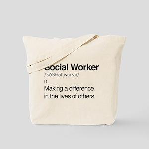 Social Worker Definition Tote Bag