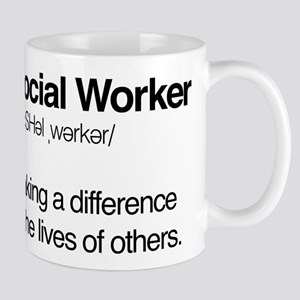 Social Worker Definition 11 oz Ceramic Mug