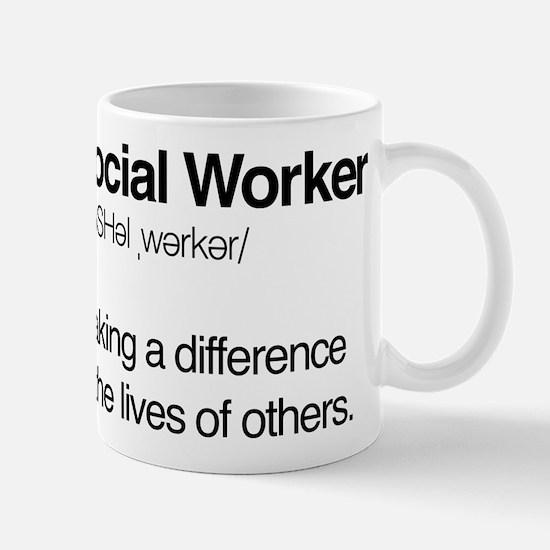 Social Worker Definition Mug
