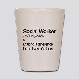 Social Worker Definition Shot Glass