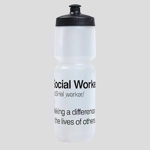 Social Worker Definition Sports Bottle