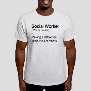 Social Worker Definition Light T-Shirt