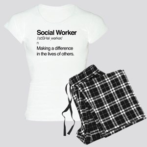 Social Worker Definition Women's Light Pajamas