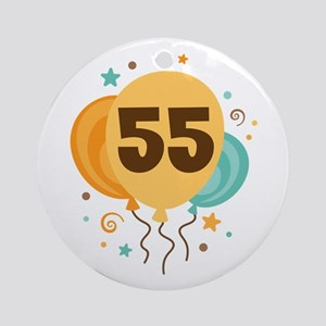 55th Birthday Party Ornament (Round)