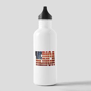 Vintage Grunge MERICA U.S. Flag Water Bottle