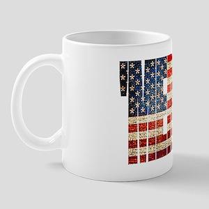 Vintage Grunge MERICA U.S. Flag Mugs