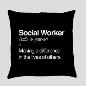 Social Worker Definition Everyday Pillow