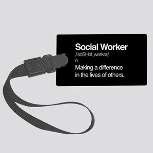 Social Worker Definition Large Luggage Tag