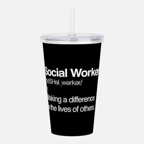 Social Worker Definiti Acrylic Double-wall Tumbler