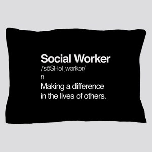 Social Worker Definition Pillow Case