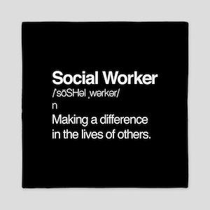 Social Worker Definition Queen Duvet