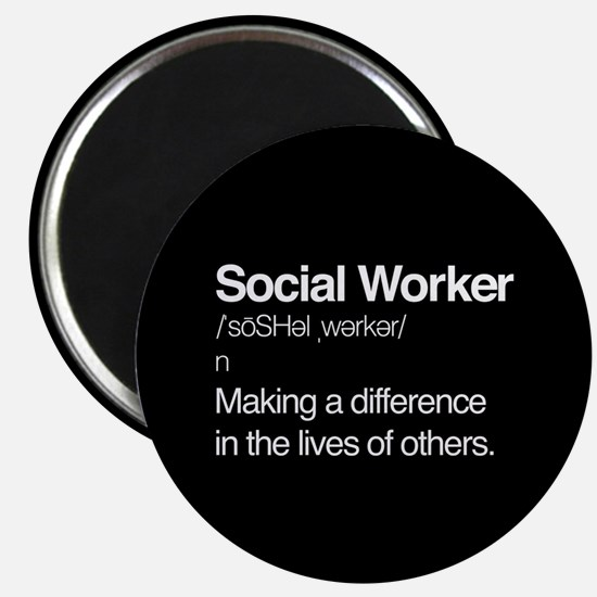"""Social Worker Definition 2.25"""" Magnet (10 pack)"""
