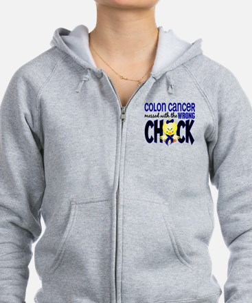 Colon Cancer Messed With Wrong Chick Zip Hoodie