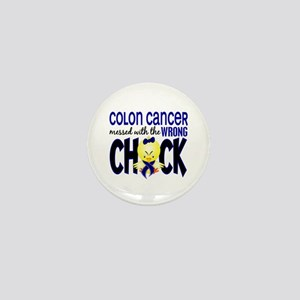 Colon Cancer Messed With Wrong Chick Mini Button