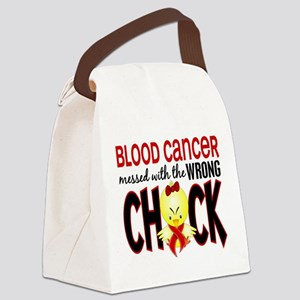 Blood Cancer Messed With Wrong Chick Canvas Lunch