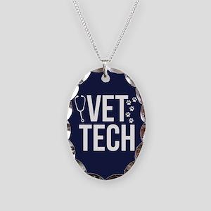 Vet Tech Necklace Oval Charm