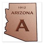 Copper Arizona 1912 State Outline Square Car Magne