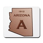 Copper Arizona 1912 State Outline Mousepad