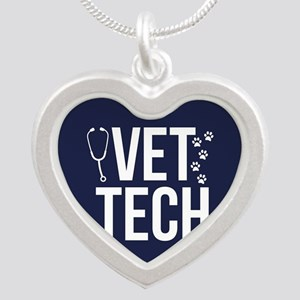 Vet Tech Silver Heart Necklace