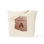Copper Arizona 1912 State Outline Tote Bag