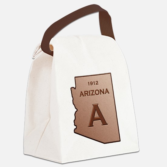 Copper Arizona 1912 State Outline Canvas Lunch Bag