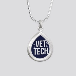 Vet Tech Silver Teardrop Necklace