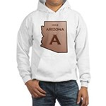 Copper Arizona 1912 State Outline Hoodie