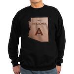 Copper Arizona 1912 State Outline Sweatshirt