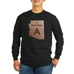 Copper Arizona 1912 State Outline Long Sleeve T-Sh