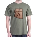 Copper Arizona 1912 State Outline T-Shirt