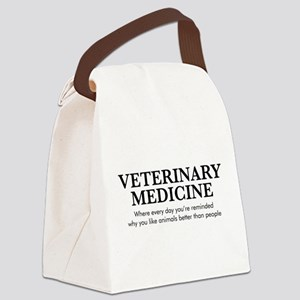 Veterinary Medicine Animals Bette Canvas Lunch Bag