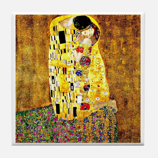 Klimt - The Kiss Tile Coaster