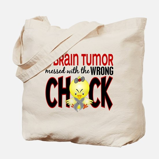 Brain Tumor Messed With Wrong Chick Tote Bag