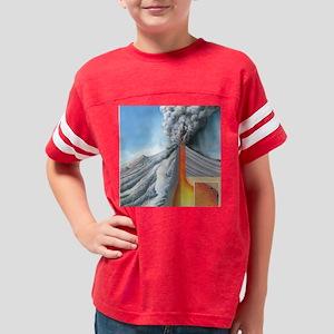 Stratovolcano, internal struc Youth Football Shirt