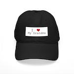 I Heart My Grandma Black Cap