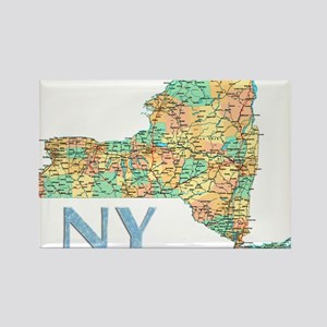 Map of New York State 7 Magnets