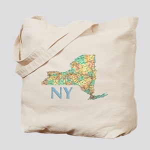 Map of New York State 7 Tote Bag