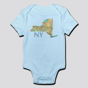 Map of New York State 7 Body Suit