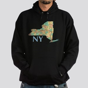 Map of New York State 7 Hoodie