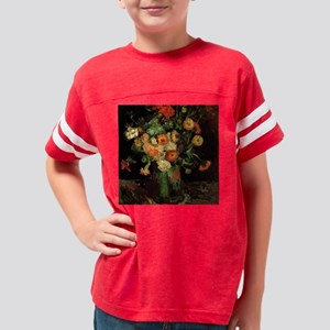Vase with Zinnias and Geraniu Youth Football Shirt