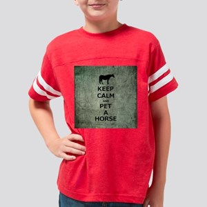 Keep Calm and Pet A Horse Youth Football Shirt