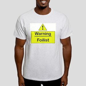 Warning Labels Ash Grey T-Shirt