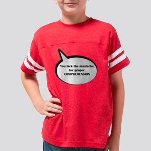 moustache_speechbubble2 Youth Football Shirt