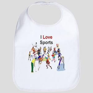 I Love sports 10 Bib