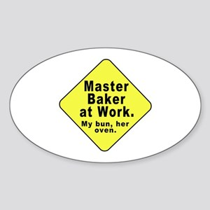 Dad-To-Be:Master Baker! Oval Sticker