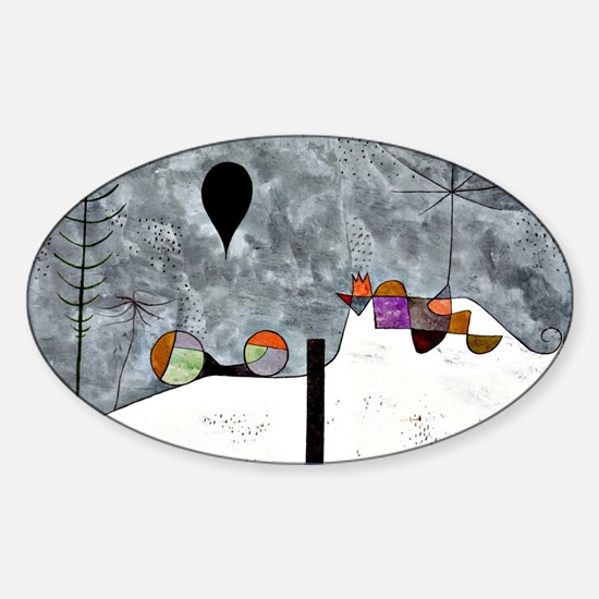 Winter Painting, Paul Klee artwork Sticker (Oval)