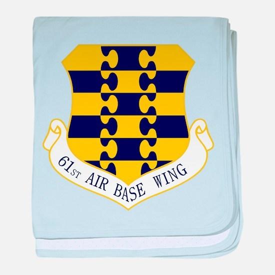 61st ABW baby blanket