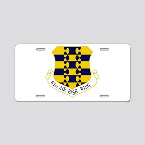 61st ABW Aluminum License Plate