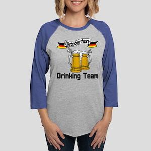 okt drinking teamt Womens Baseball Tee